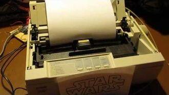 Imperial March on Dot Matrix Printer