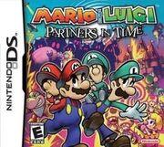 Mario & Luigi - Parnters In Time (box art)