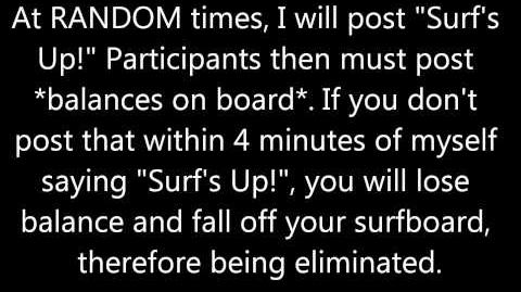 Week 1 HOH Competition- Surf's Up!
