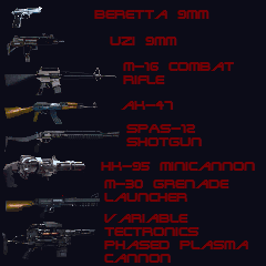 Rampage weapons list