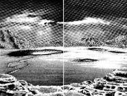 Terraformed terrain on Mars