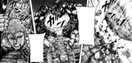 Johann holding Terraformars while his shell is being broken