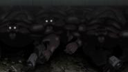 Terraformars with guns hidding under the ship