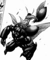 Akari ripping a wing from the Mole Cricket Terraformar.png