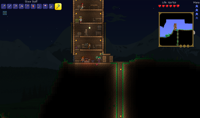 File:Terraria Slime Staff being used.png
