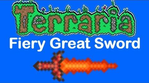 Terraria Fiery Great Sword (fixed)