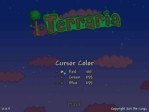 Terraria menu cursor color