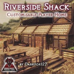 Riverside shack cover