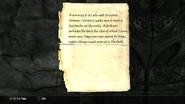 Herman's Holdout - Adventurer's Note