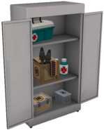 Resupply locker open