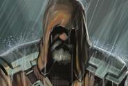 Karl in rain
