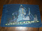 Vintage 1998 GODZILLA Twin Bed SET Sheet Fitted Pillowcase 90's Bedding5