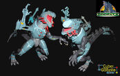 TRENDMASTERS Animated Godzilla the Series Unreleased Cyber-Godzilla Prototypes x 2