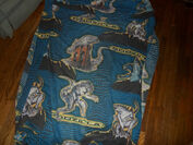 Vintage 1998 GODZILLA Twin Bed SET Sheet Fitted Pillowcase 90's Bedding3