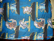 TWIN Bed Fitted SHEET FABRIC bedding cover blanket godzilla god1