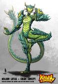 Kaiju combat dragon lotus by kaijusamurai-d5ohcnt