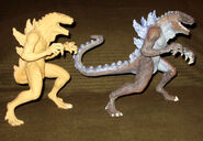 TRENDMASTERS Godzilla Razor Bite RESIN Prototypes with 5 fingers instead of 4