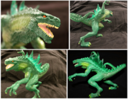 Trendmasters Animated Godzilla The Series Unreleased Collection of Figures and Prototypes and Collectibles54..