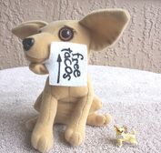 Yo Quiero Taco Bell Chihuahua Dog Plush Here Lizard.. Godzilla 1998 +a Keychain