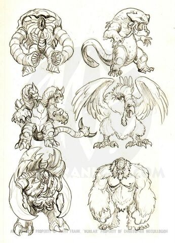File:Monstrously Awesome ! Original Monsters by Matt Frank aka Kaiju Samurai..jpg