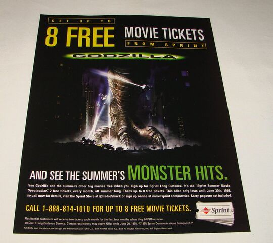 File:1998 Sprint ad page ~ GODZILLA Monster Hits1.jpg