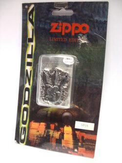 MEGA RARE - Zippo Godzilla Lighter Footprint 1998 New LIMITED Edition of 10000