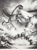 Concept art by Stan Winston Studios for what would have been Godzilla '94