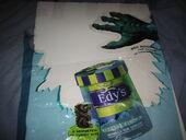 Godzilla ice cream edy's promo static cling poster