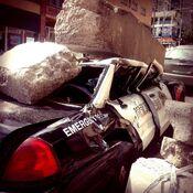 Godzilla 2014 Smashed Car 7