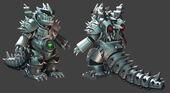 Official ROBOKOMODODON mesh for the free Kaiju Combat release presenting Kaiju Land!