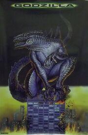 Godzilla 23x35 Art Style Movie Poster 1998