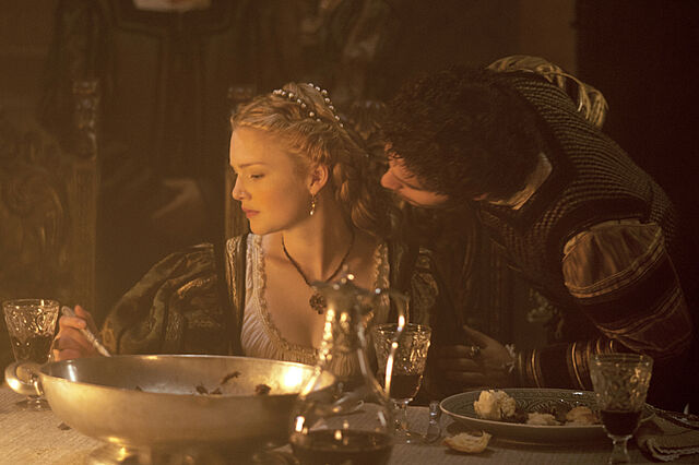 File:003 The Wolf and the Lamb episode still of Alfonso of Aragon and Lucrezia Borgia.jpg