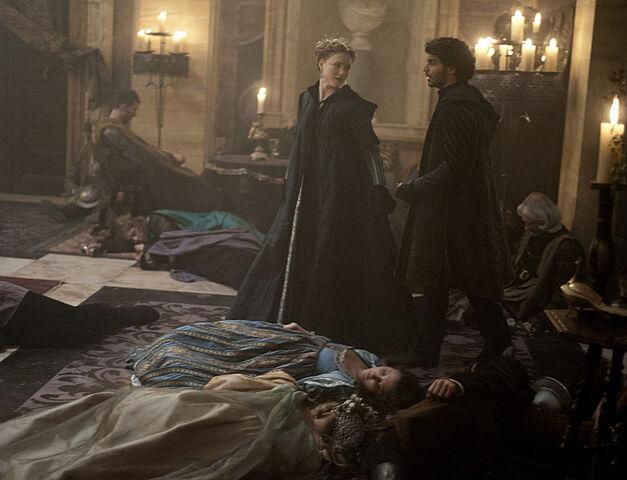File:007 The Gunpowder Plot episode still of Lucrezia Borgia and Alfonso of Aragon.jpg