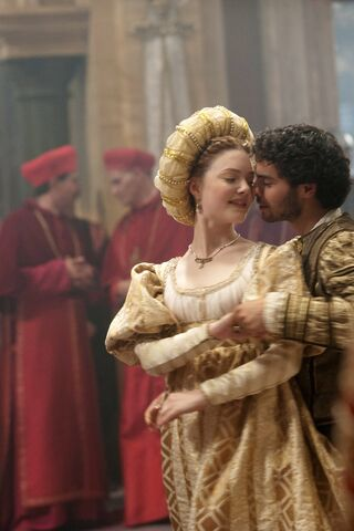File:005 Siblings episode still of Lucrezia Borgia and Alfonso of Aragon.jpg