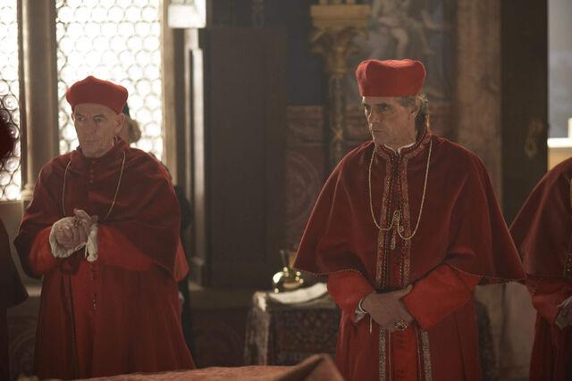 File:021 The Poisoned Chalice episode still of Piccolomini and Rodrigo Borgia.jpg