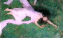 Sarah Brightman lying down