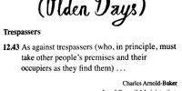 (Olden Days)