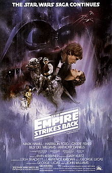 The empire strikes back poster