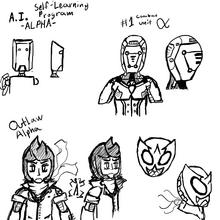 Alpha faces