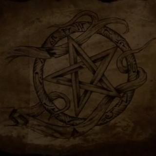 Pentagram, representing the four elements and the spirit