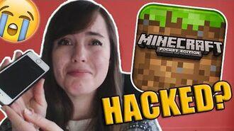 I WAS HACKED?! - MINECRAFT POCKET EDITION