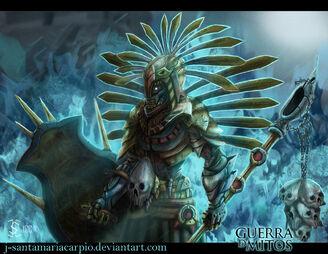 Guerra de mitos xipe totec aztec by j santamariacarpio-d6y39vv