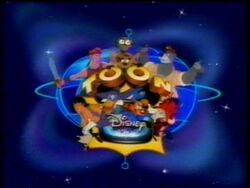 Old Toon Disney logo with multiple characters