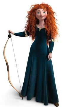 Merida with her bow