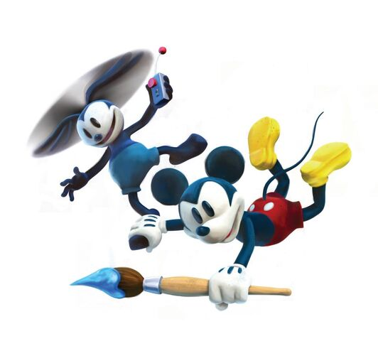 File:Mickey and Oswald flying. Epic Mickey 2 art.jpg