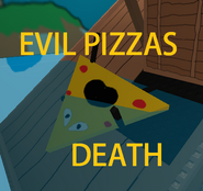 Evil pizzas death badge