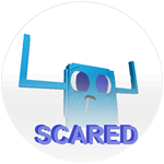 Badge scared