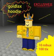 Goldlax hoodie poster