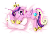 Cadance on a cushion