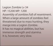 Legion Zombie Info